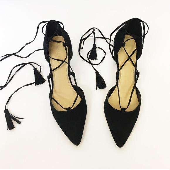 a78143813f8 Marc Fisher black suede lace up heels 8.5. M 5c705593534ef9fbaddb1998